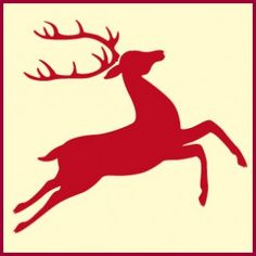 Reindeer Stencil 2: Click through to buy this home decor and crafting Christmas stencil from The Artful Stencil! US shipping averages 5 days. We ship all over the world.