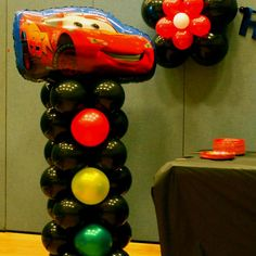 disney cars birthday balloons - Google Search Great idea for a party decoration!
