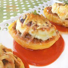 Patatas rellenas de carne al horno, tan fáciles como estupendas