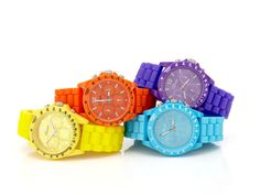 Colorful watches.