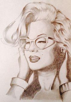 Marilyn ritratto a matita