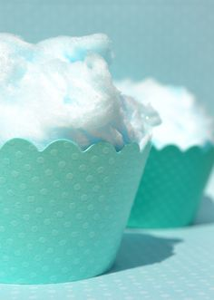 cotton candy in cupcake cups