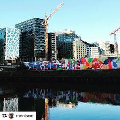 Oslo gatekunst. #reiseliv #reisetips #reiseblogger #reiseråd  #Repost @monisod (@get_repost)  Street art reflection. . . #oslo #oslolove #fjordbyen #whereinoslo