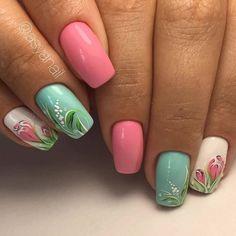 Fails Design Spring Purple Art Ideas 65 Ideas For 2019 Cute Nail Art Designs, Beautiful Nail Designs, Nail Designs Spring, Acrylic Nail Designs, Fancy Nails, Cute Nails, Pretty Nails, Spring Nail Art, Spring Nails