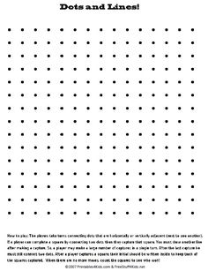 Blank Printable Dots And Lines Pencil Game : Printables For Kids U2013 Free  Word Search Puzzles, Coloring Pages, And Other Activities