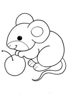 ausmalbilder maus - New Ideas Easy Coloring Pages, Animal Coloring Pages, Free Printable Coloring Pages, Coloring Pages For Kids, Coloring Sheets, Coloring Books, Baby Quilt Patterns, Applique Patterns, Mickey Mouse Crafts