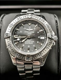 Breitling Colt Automatic Black- Very special Watch-Like New - (1998) · $1,200.00 Breitling Colt Automatic, Omega Watch, Watches, Ebay, Accessories, Black, Shopping, Wristwatches, Black People