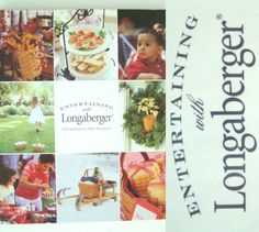 NEW 2003 ENTERTAINING WITH LONGABERGER Book First Printing Illustrated Sealed