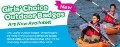 NEW GIRLS' CHOICE OUTDOOR BADGES