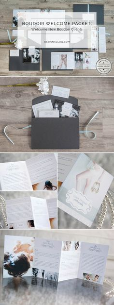 Help your client to relax and ease their tension with the most impressive presentation we have ever seen: Design Aglow's Boudoir Welcome Packet.