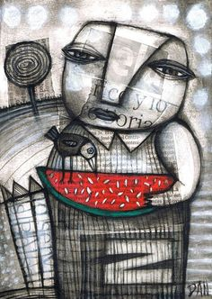 Self-taught artist Dan Casado, gallery of artworks, acrylic paintings, drawings and collages. Collages, Collage Art, Graphic Design Illustration, Illustration Art, Creation Art, Art Sculpture, Naive Art, Art Graphique, Art Journal Inspiration