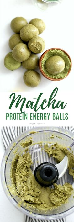 Recipes Snacks Protein Matcha energy balls packed with protein powder and sweetened with dates. Improve mental awareness, immunity and muscles with these all-natural and gluten-free matcha green tea protein balls! Matcha, Quick Snacks, Quick Easy Meals, Protein Snacks, Healthy Snacks, Healthy Protein, Sin Gluten, Avocado Hummus, Healthy Breakfast Smoothies