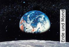 Tapete: Erde und Mond - TapetenAgentur