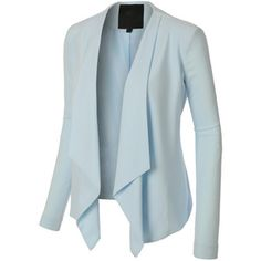 b812401f00ba LE3NO Womens Open Front Draped Long Sleeve Blazer Jacket Ladies Blazers