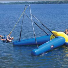 Floating rope swing?! Need it. One day.