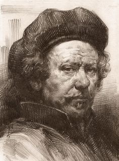 Rembrandt Portrait 2 Canvas Print / Canvas Art by Behzad Sohrabi . Rembrandt Portrait 2 Canvas Print / Canvas Art by Behzad Sohrabi . Rembrandt Self Portrait, Rembrandt Drawings, Rembrandt Art, Rembrandt Paintings, Rembrandt Etchings, Portrait Au Crayon, Pencil Portrait, Portrait Art, Self Portrait Drawing