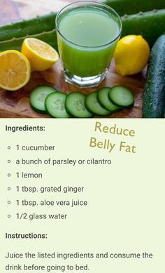 Drink recipe to reduce belly fat: