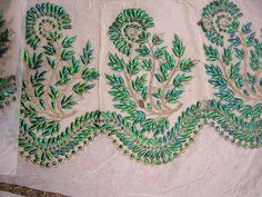 Beetle wing embroidery - I WILL do this one day