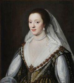 Frances Villiers, nee Coke Viscountess Purbeck by Michiel van Miereveldt (Ashdown House, Hungerford Berkshire UK)