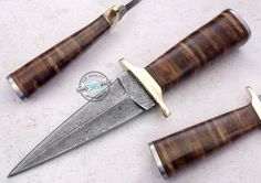 "9.75"" Custom Hand Beautiful Damascus Steel Dagger Knife (AA-0381-1)…"