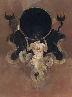 Inspired by the old Dutch masters, the occult and oriental illustration, Moscow-based artist Denis Forkas creates mystical paintings and illustrations. Kunst Inspo, Art Inspo, Arte Horror, Horror Art, Art And Illustration, Fantasy Kunst, Fantasy Art, Olgierd Von Everec, Art Sombre