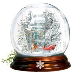 """Victorian Home Snow Globe"" by shape-shifter on Polyvore"