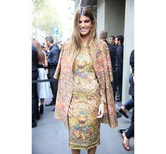 Bianca Brandolini d'Adda en Dolce & Gabbana http://www.vogue.fr/defiles/street-looks/diaporama/street-looks-a-la-fashion-week-printemps-ete-2014-de-milan-jour-5/15358/image/847065