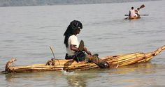 Ethiopia, Fisherman on the Tana Lake |  Fisherman in a Papyrus Reed Boat
