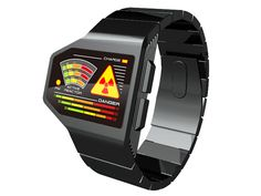 Radiation Level LED Watch Concept: Post-Apocalyptic Timepiece