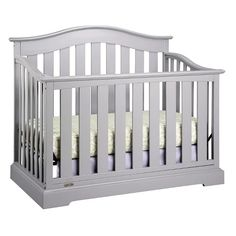 Add premium style and safety to your baby's nursery with the Graco Westbrook Convertible Crib. Add premium style and safety to your baby's nursery with the Graco Westbrook Convertible Crib.Features: Dimensions: L x W x H in. Full Size Headboard, Headboard And Footboard, Grey Crib, Best Crib, Pebble Grey, Headboard Designs, Convertible Crib, Nursery Furniture, Baby Cribs