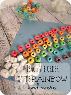 Teach the colors of the rainbow with this FUN, but simple Rainbow Paper Craft!
