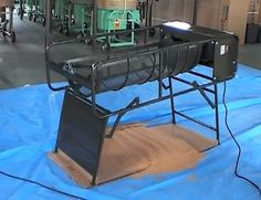 Sand Sifter by mazelar -- Homemade sand sifter constructed from pipe, bar stock, metal screen, a rocker mechanism, and an electric motor. http://www.homemadetools.net/homemade-sand-sifter-2