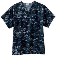 White Swan - Camouflage Scrub Top - Navy Camo Camo Scrubs, Camouflage Tops, White Swan, Nursing Clothes, Scrub Tops, Men Casual, Unisex, Navy Style, Mens Tops
