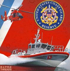 2/19/17 - Happy 76 years, US Coast Guard Reserve!  Thank you for all the work that you do - from responding to stateside hurricanes and floods, assisting with clean-up operations for major oil spills, participating in joint military exercises around the world, and so much more! Semper Paratus!   www.battle-threads.com