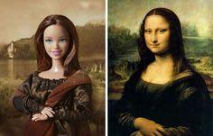 Barbie devient Mona Lisa!