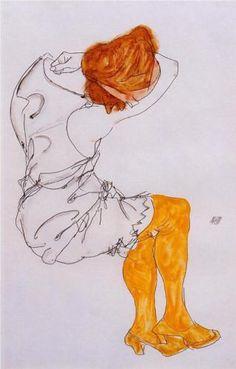 The sleeping girl - Egon Schiele 1913