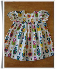 Russian Dolls Summer Bo-Peep Dress, 6-12 months. £24.00