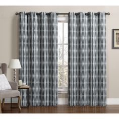 Victoria Classics Monsoon Grommet Top Blackout Panel Pair - Overstock Shopping - Great Deals on Victoria Classics Curtains