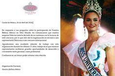 Nuestra Belleza Mexico will no more send representative to Miss World Pageant