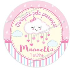 Rótulo adesivo para Latinha Mint to Be Cloud Party, Baby Shower, Baby Cards, Disney Frozen, Diy And Crafts, Stickers, Frame, Diaper Invitations, Unicorn Birthday Parties