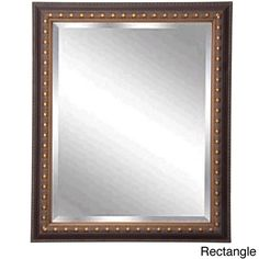American Made Rayne Traditional Cameo Bronze Beveled Wall/ Vanity Mirror (