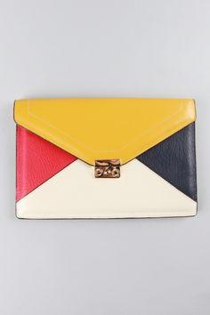 MINUSEY - color block clutch