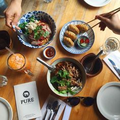 Celebrated the gorgeous weather today at one of my favorite Thai spots in the city @purethaicookhouse  by ediblemoments