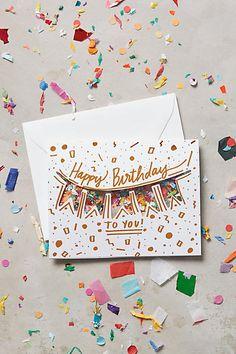 Confetti Birthday Card - anthropologie.com