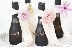 Bridal Shower Favors - love the candle, macaroons and champagne