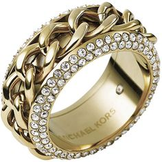 Michael Kors Chain/Pave Ring