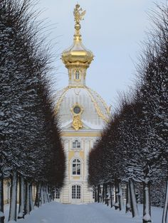 Winte in Peterhof Palace, St. Petersburg, Russia