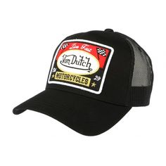 Casquette Von Dutch Noir et rouge Blacky #vondutch #casquette #vintage #mode #headwear #motogp Things I Need To Buy, Stuff To Buy, Hat Patches, Baseball Caps, Sport, My Style, Hats, Collection, Beanies