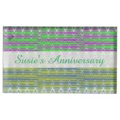 Personalized Colorful pastel zigzag Table Card Holder #zazzle #personalized #tablecards