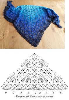 Scarf crocheted from LiLu's fairytale yarns: Eisprinz shop. Scarf crocheted from LiLu's fairytale yarn: Eisprinzshop.de / …Pattern crochet with need Poncho Au Crochet, Crochet Shawl Diagram, Crochet Shawls And Wraps, Crochet Chart, Crochet Scarves, Crochet Clothes, Crochet Lace, Crochet Stitches, Free Crochet